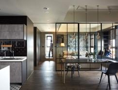玻璃和黑色金属框架分隔空间:透明化的时尚现