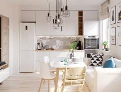 白色和木质纹理搭配的4个小公寓装修,体育投注