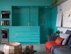 巴西圣保罗60平米开放式布局公寓设计