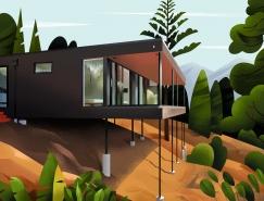 Muhammed Sajid:迷人的世界各地家居建筑插圖設計