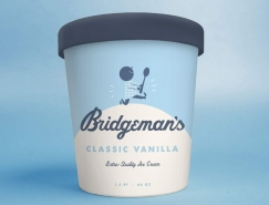 Bridgeman's冰淇淋包装设计