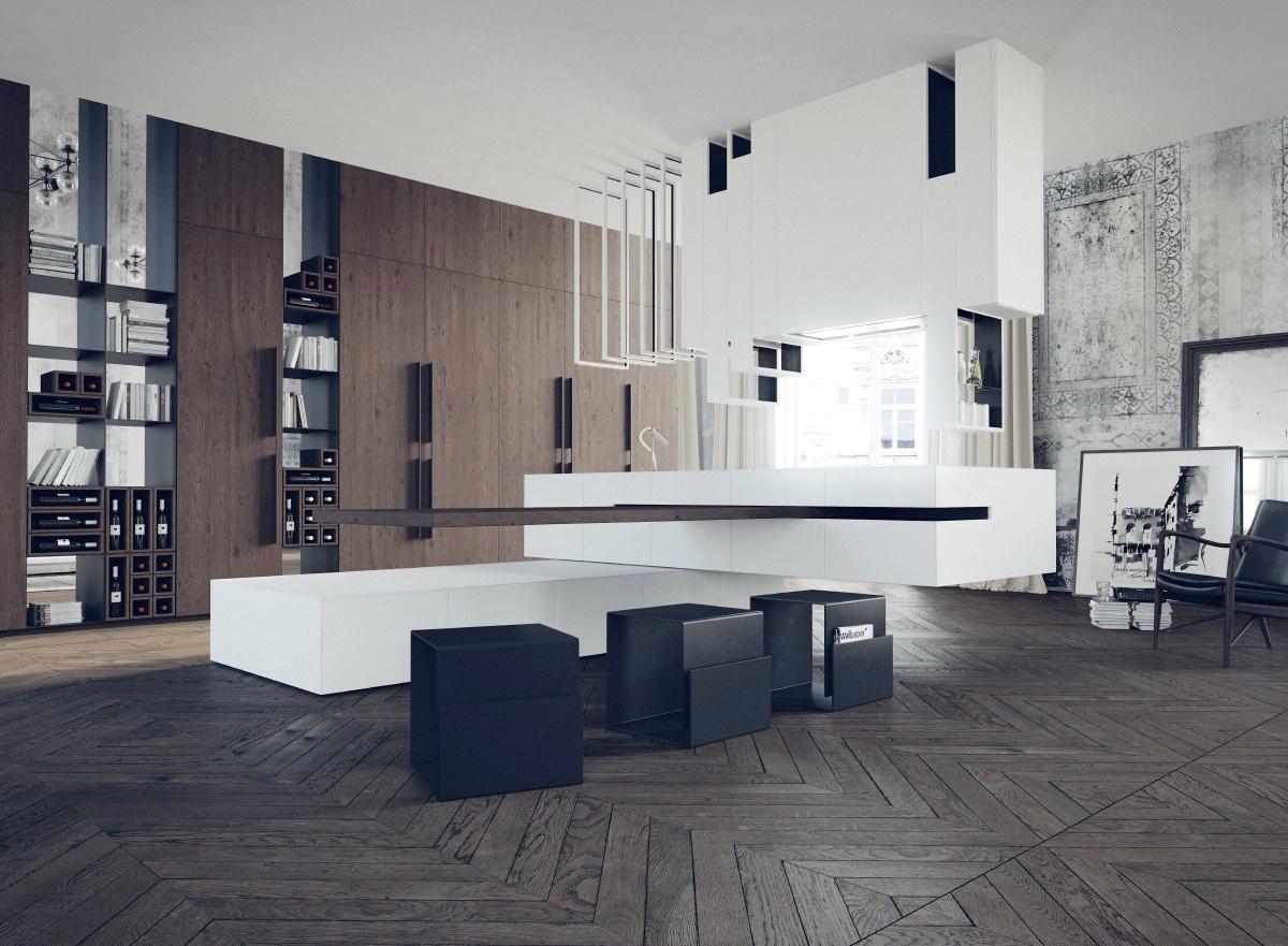 50个漂亮的岛式厨房设计