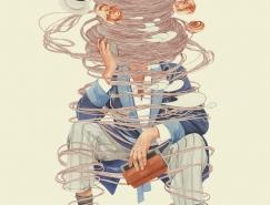 Dmitry Ligay鉛筆和水彩插畫