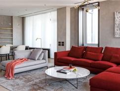 厚重大气的深色调:极简风格莫斯科公寓翻新设