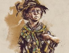 Florian NICOLLE自由写意人物插画欣赏