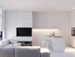 干净优雅的纯白家居装修设计