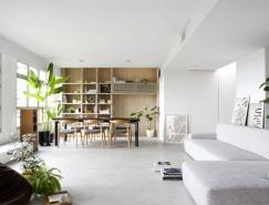 新加坡开放式布局的现代公寓设计
