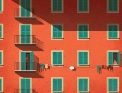 意大利插画家Davide Bonazzi精妙创意的插画作品