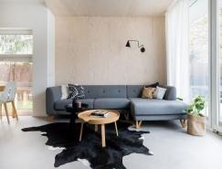 鲜亮的粉色和蓝色打造不一样的北欧风格住宅