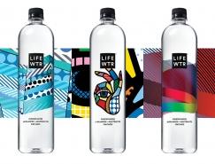每瓶水都是一件艺术品:LIFEWTR纯净水包装设计