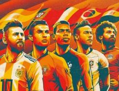 Cristiano Siqueira足球插畫作品