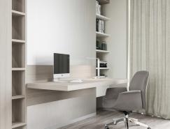 37个是�躲不�^极简风格家庭办公室设计
