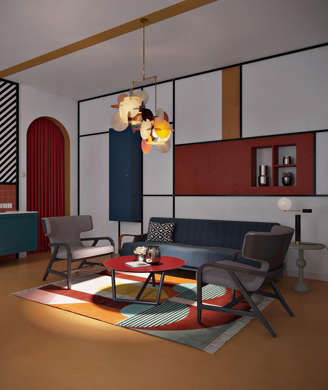 荷兰风格派(De Stijl)室内设计作品欣赏