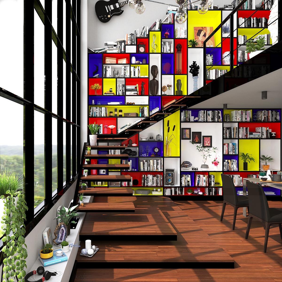 黄铜_荷兰风格派(De Stijl)室内设计作品欣赏(4) - 设计之家