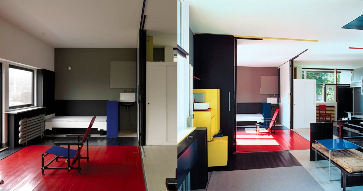黄铜_荷兰风格派(De Stijl)室内设计作品欣赏(3) - 设计之家