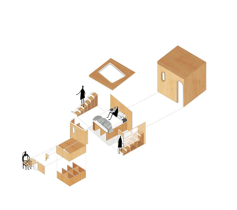 旋转10°让空间更通透 上海48㎡十度宅设计