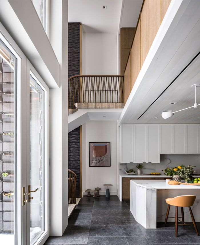 纽约Neo-Grec联排别墅的现代风格改造