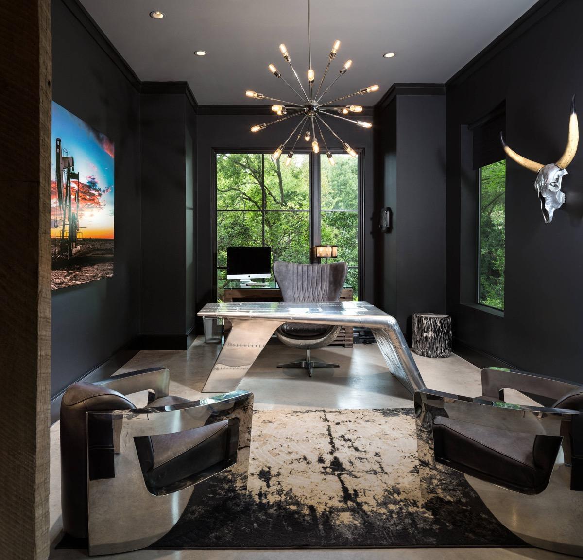 33个工业风格的家庭办公室设计