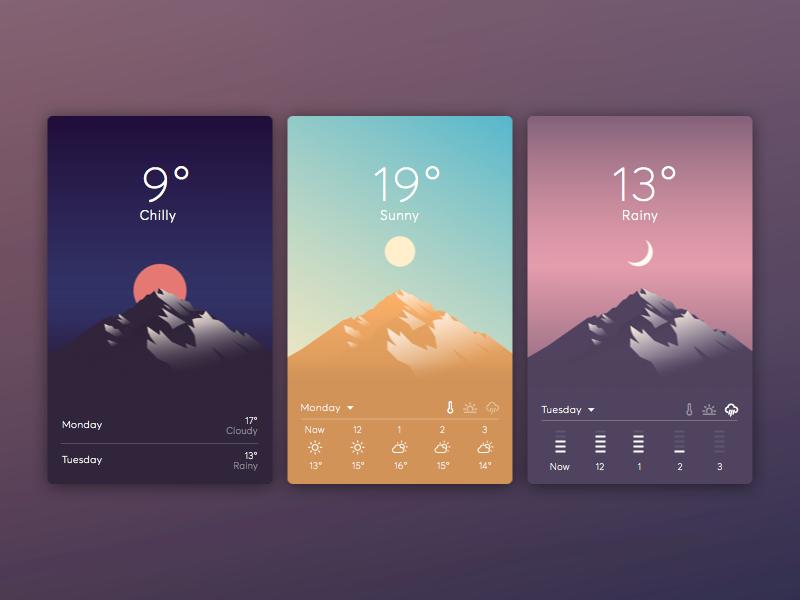 30款天气APP界面UI设计