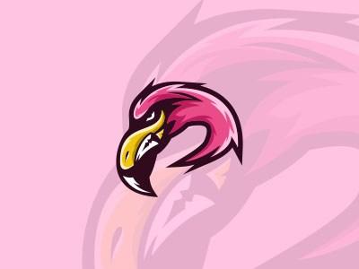 标志设计元素应用实例:火烈鸟