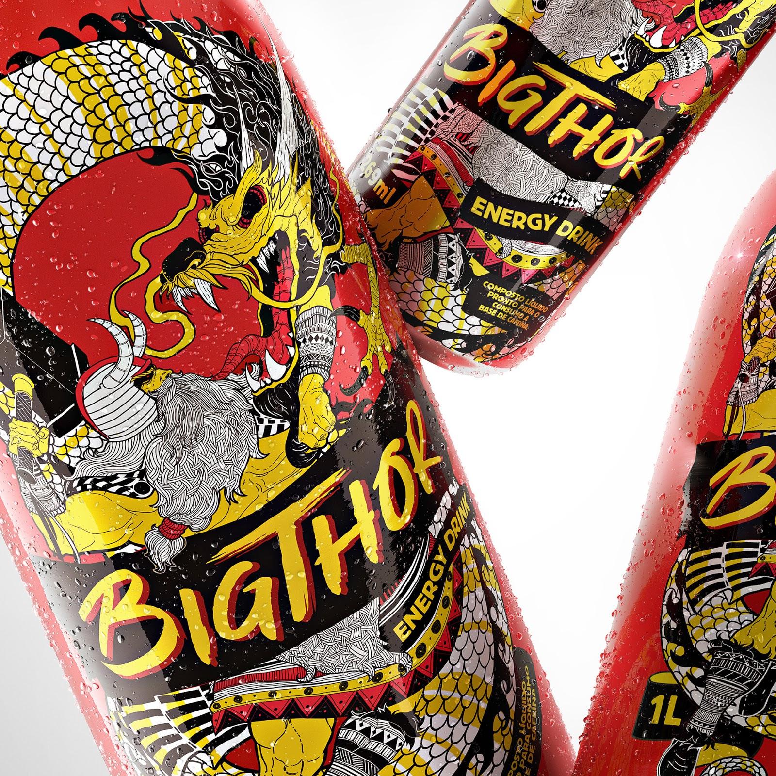 Big Thor能量饮料包装设计