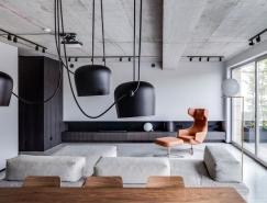 混凝土和時尚水磨石:維爾紐斯現代公寓設計
