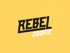 醒目的色彩和图案:REBEL面包店视觉形象设计