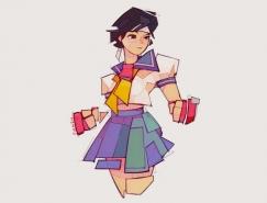 《街头霸王》游戏角色插画设计