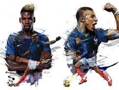 巴黎插画师Yann Dalon:世界杯法国队球星肖像插