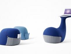 休闲办公两用 有趣的鲸鱼造型座椅