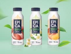 Epica茶和水果风味的酸奶包装设计