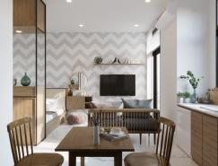 4個現代富有活力的小公寓