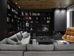 黑色和灰色打造的希腊现代住宅设计