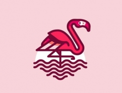 標誌設計元素應用實例:火烈鳥