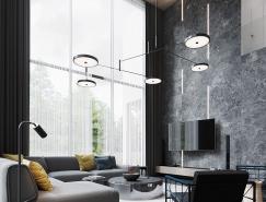 圣彼得堡黑色风格loft别墅设计