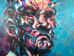 Mathijs Vissers抽象肖像畫作品