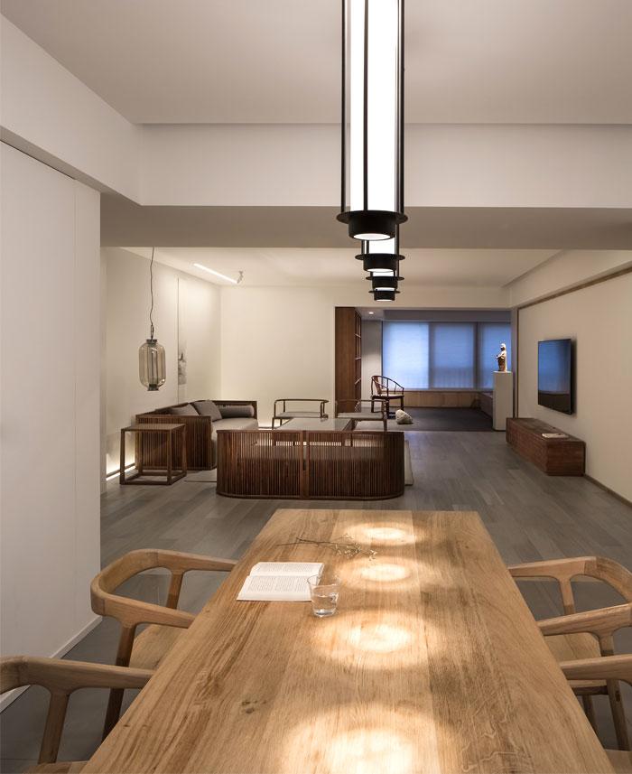 汕头新中式极简风格住宅装修设计