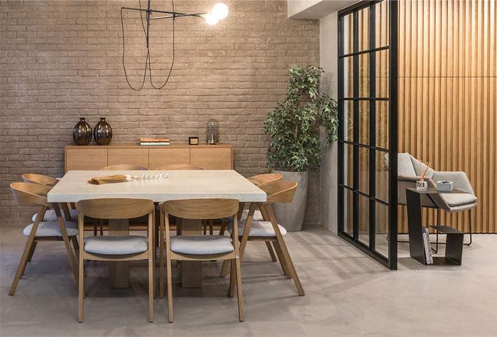 希腊开放空间布局的工业风格住宅设计