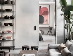维也纳开放式概念布局的现代灰住宅设计