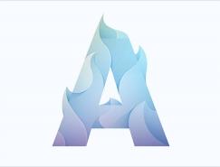 Yoga Perdana立体渐变效果logo设计