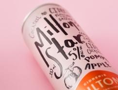 Milton Star罐装苹果酒包装设计