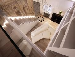 优雅的白色和迷人的现代感:罗马精致艺术风格奢华住宅