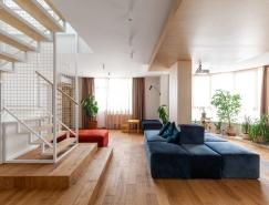 乌克兰190平米开放式空间的现代复式住宅设计