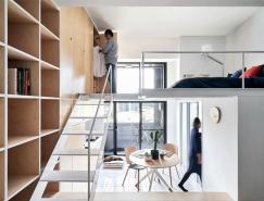 台北33平米简约风格双层小公寓设计