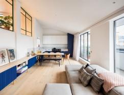 伦敦清新优雅的顶层公寓设计