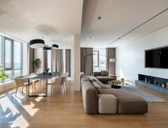 三间公寓的合并:River Stone极简主义风格的300平米住宅皇冠新2网