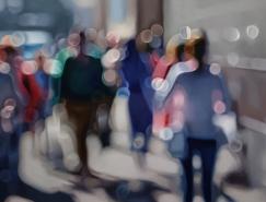 "Philip Barlow ""失焦""的绘画作品欣赏"