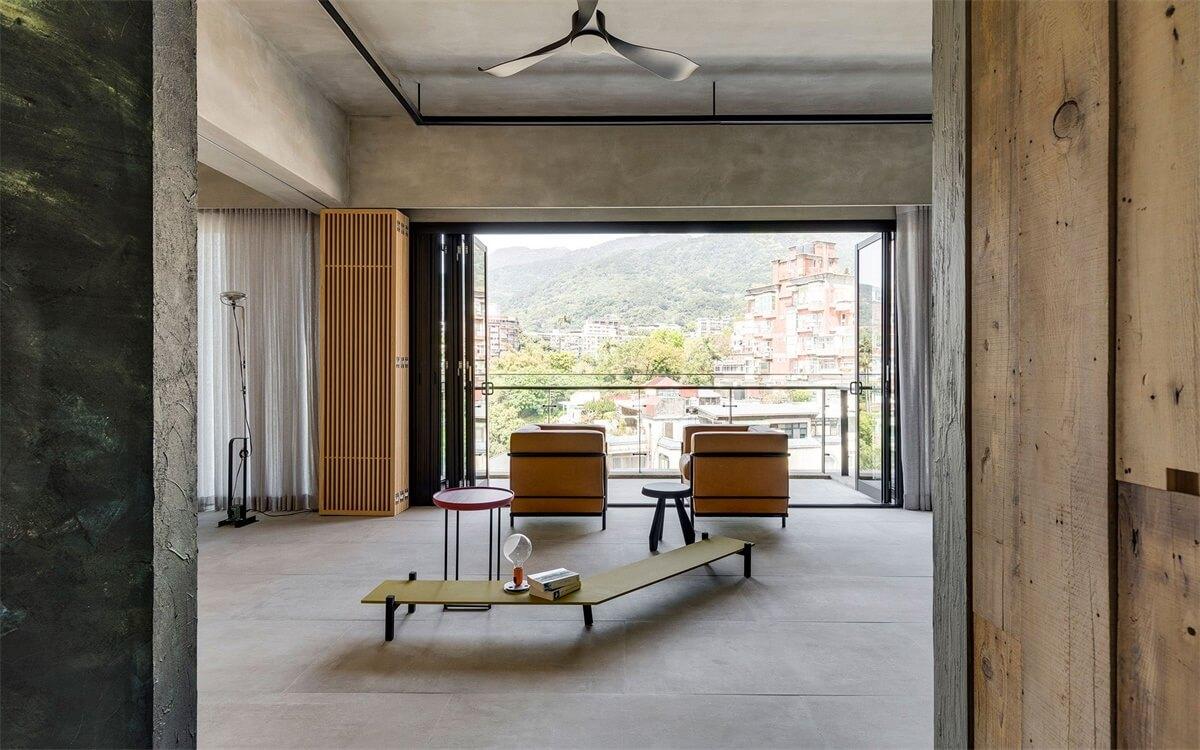 时光很慢 岁月很美:台北DIN-A-KA亭仔脚极简主义住宅设计