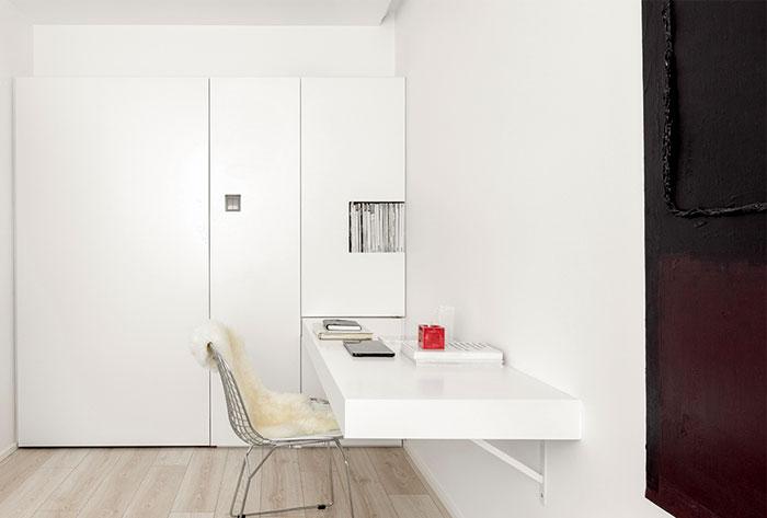 一居室白色小公寓装修设计