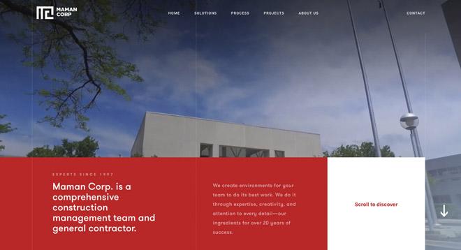 35个使用动画效果的网页设计欣赏